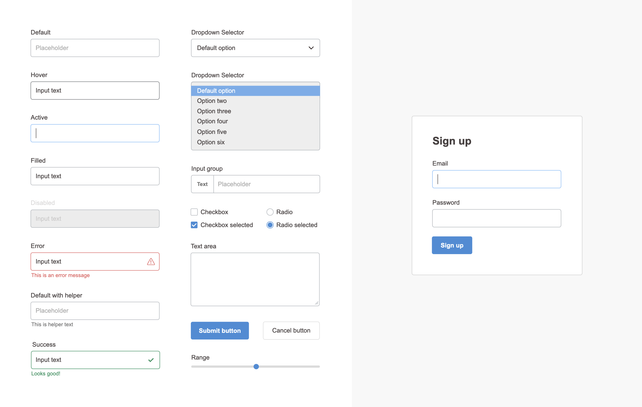 Form design free UI